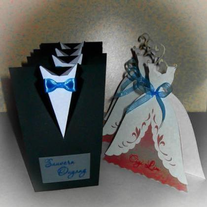 "Bridal Wedding Invitations ""Bride And Groom"", Tuxedo ..."