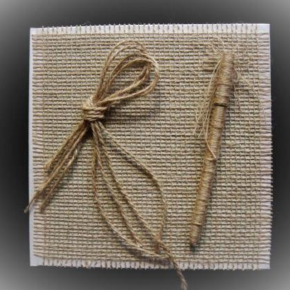 Rustic Wedding Guest Book and Pen, ..