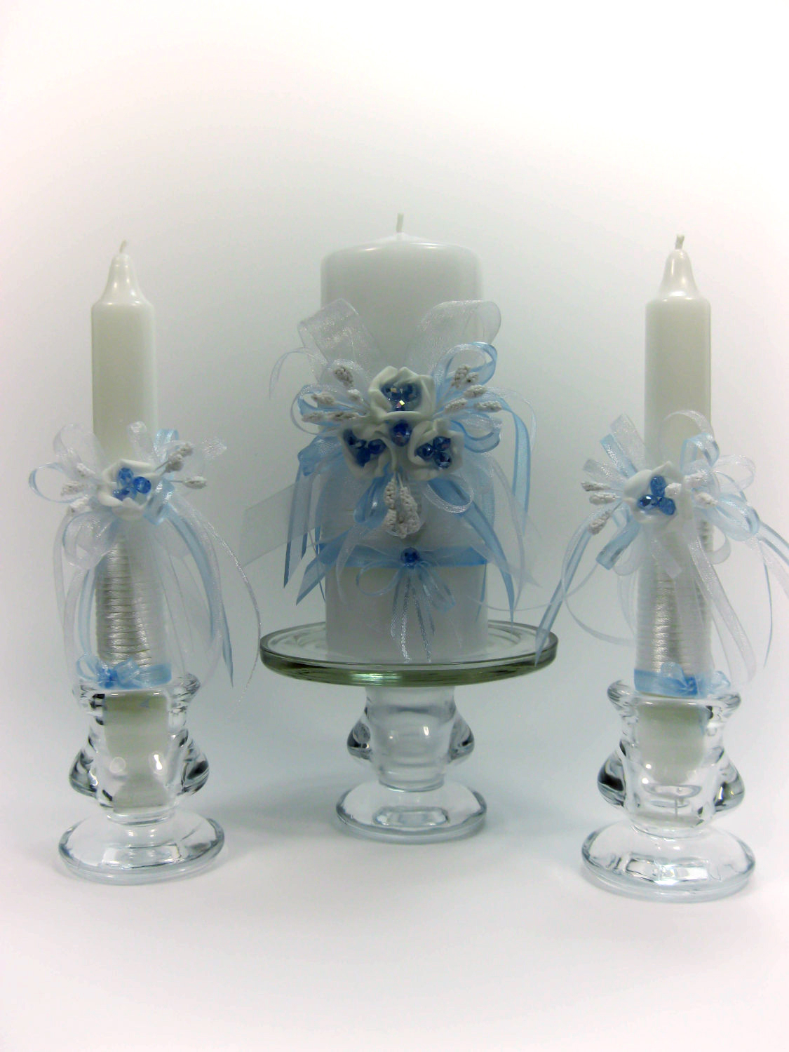 handmade wedding unity candles something blue roses pillar candle taper candles personalized candles unity candle set